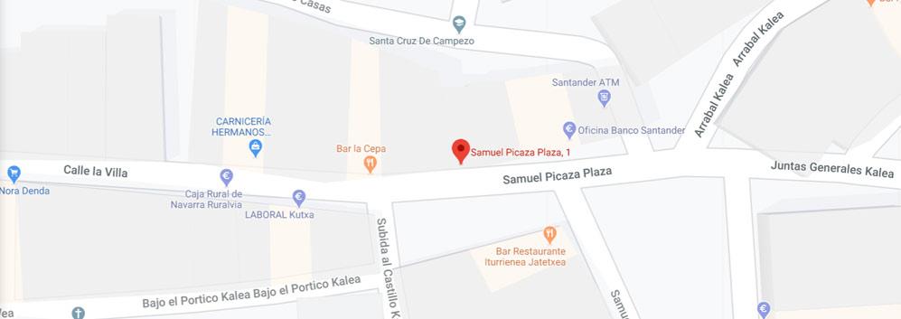 mapa registro civil de Campezo